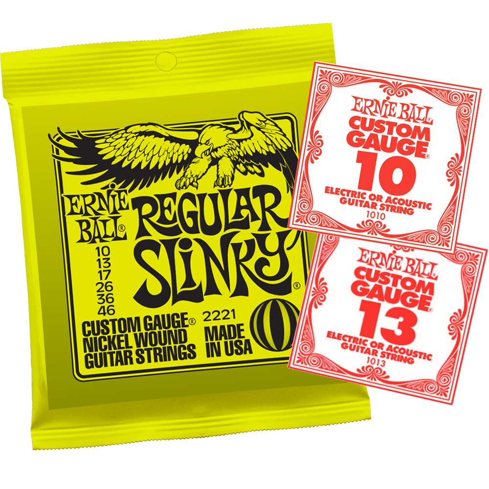 Ernie Ball 2221 Regular Slinky 10-46 Electric Guitar String Set