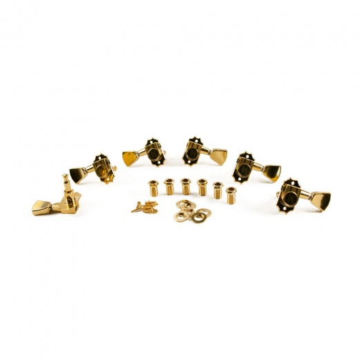 Kluson Revolution G-Mount Diecast Tuners - 3 Per Side - Gold